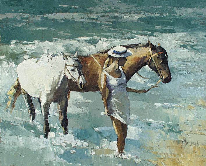 Алексей Зайцев. Купание коней