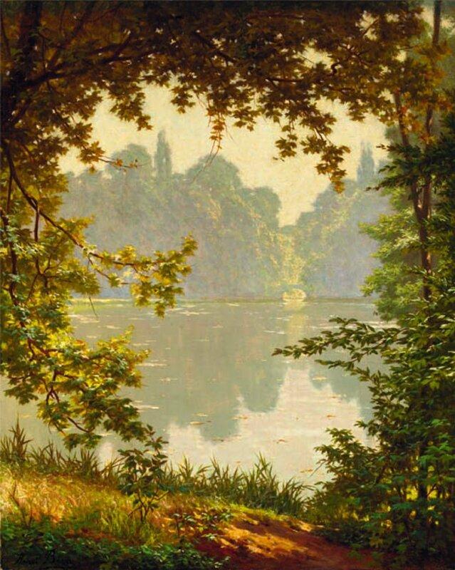 Над рекою деревья склонились, Отражаются в тихой воде Henri Biva