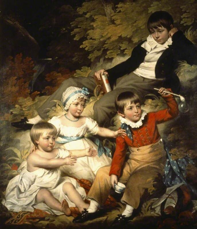 Halls, John James (1776-1853) The Four Eldest Children of Sir Richard Croft, 6th Bt (1762–1818)