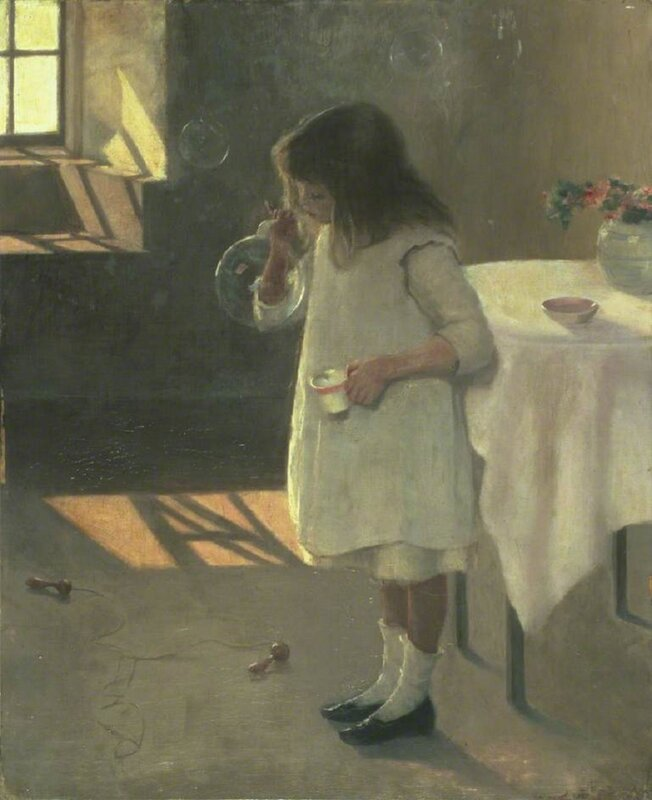 Atkinson, Amy B. (1859-1916) Bubbles, 1907 (oil on canvas)