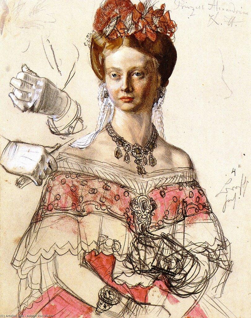 Adolph_von_menzel-princess_alexandrine_of_prussia.Jpg