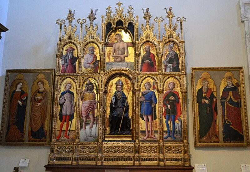 Антонио Виварини - Святой Антоний Аббат, оплакиваемый Христос и святые