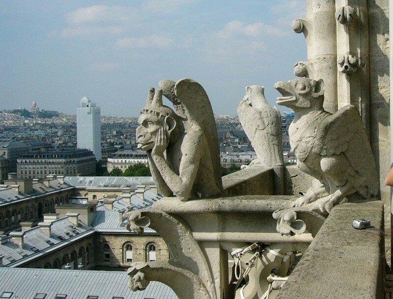 Статуи химер Собора Парижской Богоматери