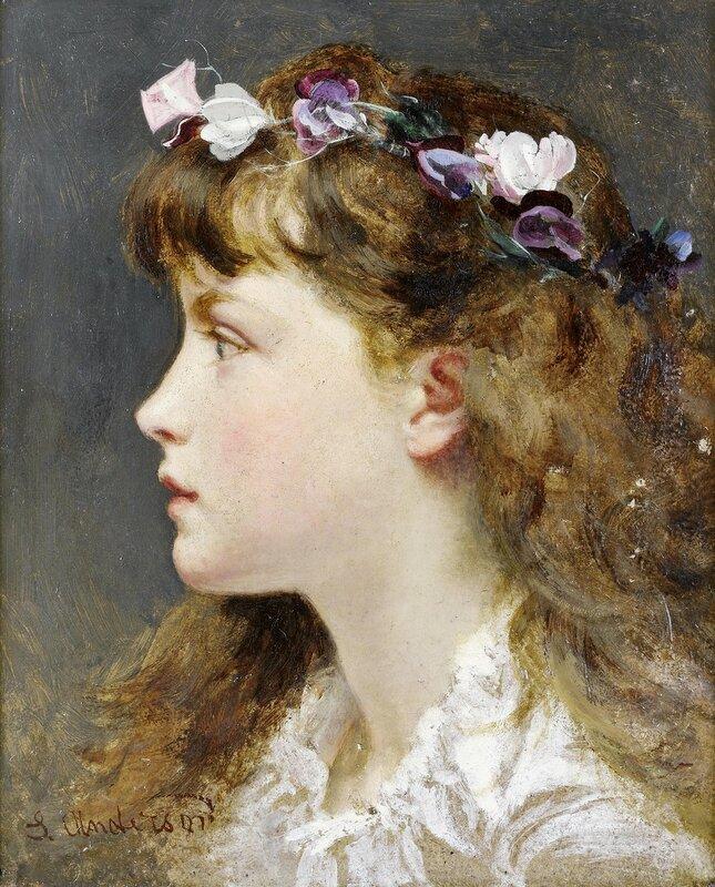 Девушка с цветочным венком.