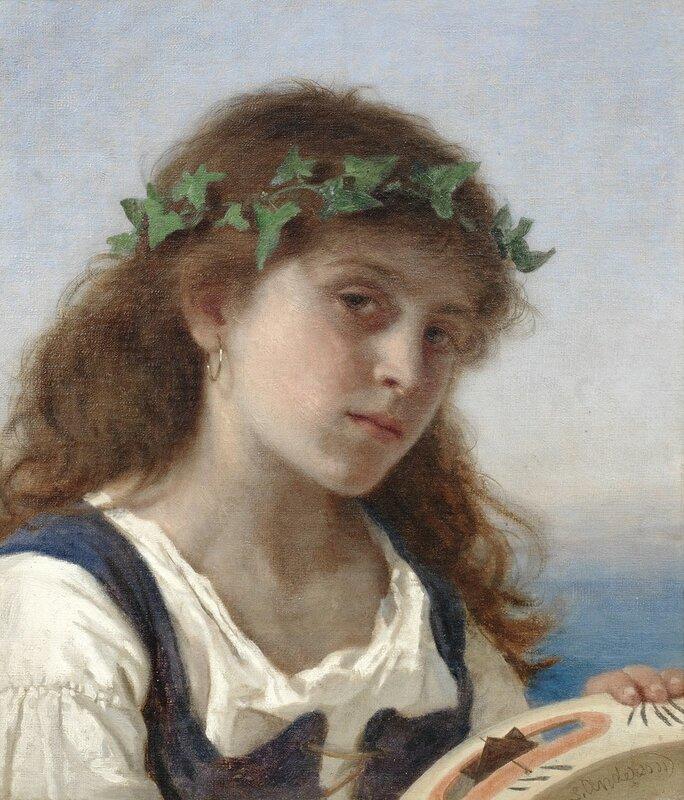 Девушка с тамбурином.