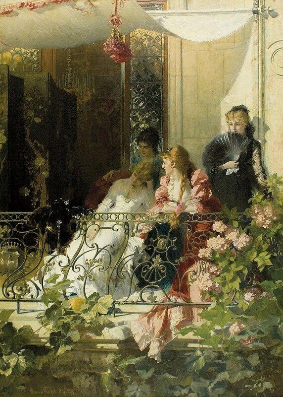 Дамы на балконе