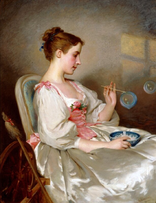 Charles Chaplin (1825-1891) - Blowing Bubbles