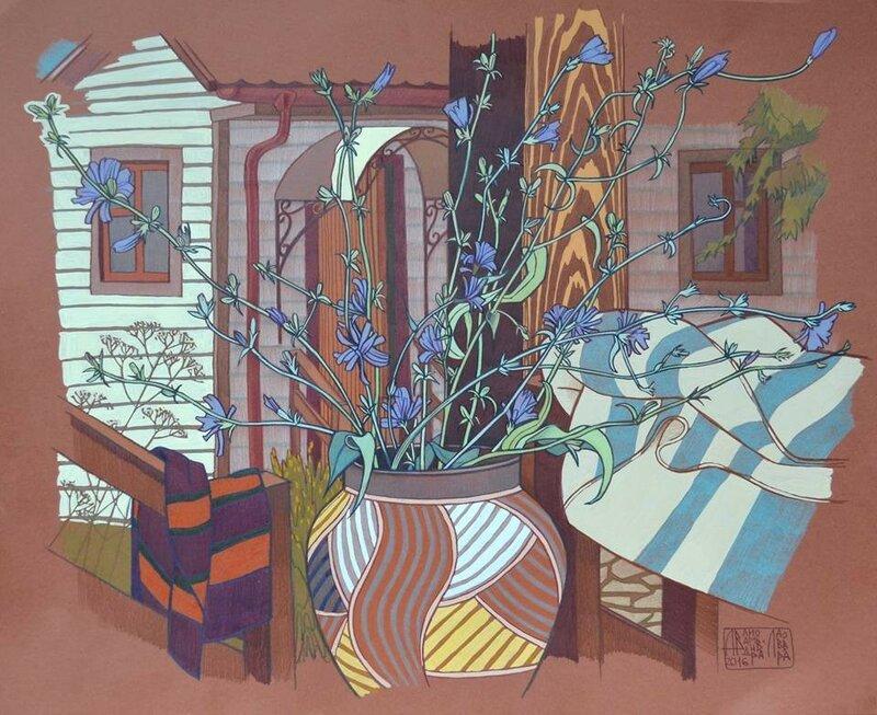 Середина февраля, за окном всё светлей/  Художник Анна Владимирова-Лаврова (1980)