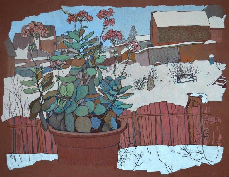 Середина февраля, за окном всё светлей Художник Анна Владимирова-Лаврова (1980)