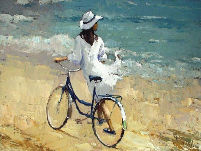 Алексей Зайцев. Девочка с велосипедом.