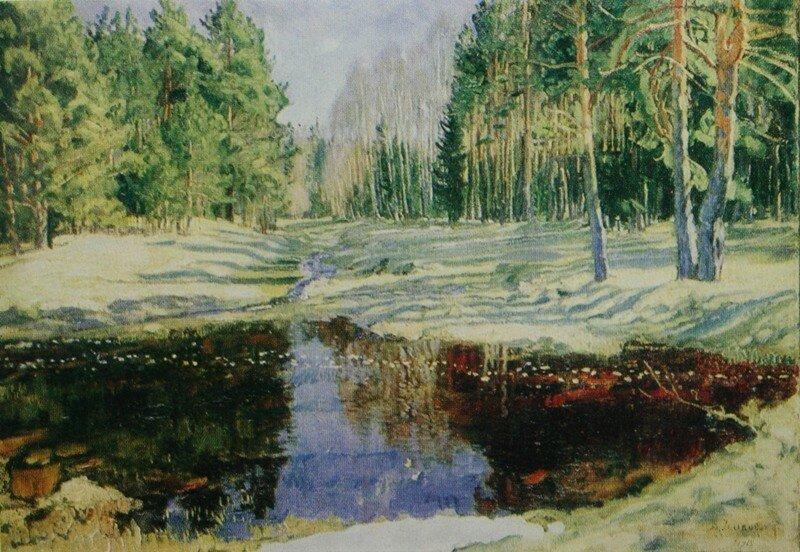«Весна в лесу»1918Холст, масло64,7х92Государственная Третьяковская галерея