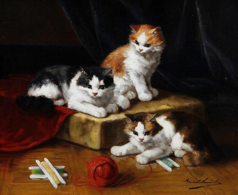 Котята, играющие с клубком.jpg