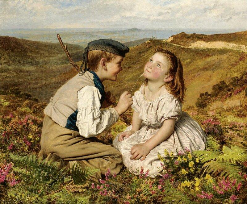 Это движение, смеяться или нет.Sophie Gengembre Anderson (1823-1903)