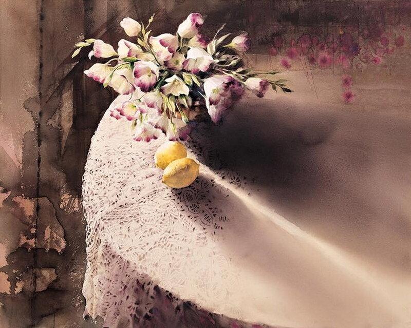 Она пришла и цветком обернулась...Корейская акварелистка You Mee Park. Натюрморты