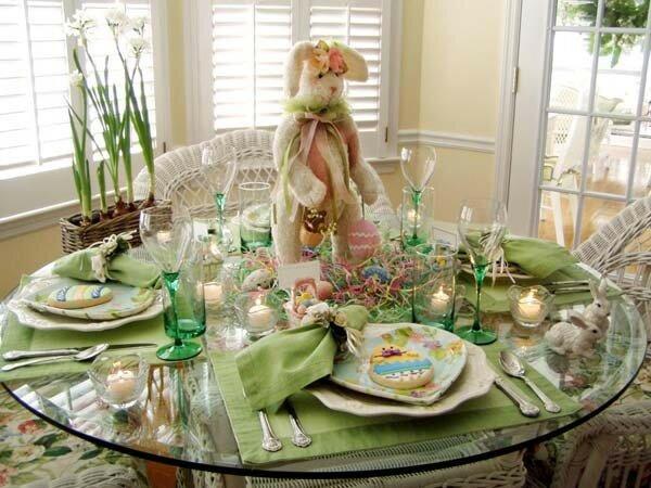 Оформление праздничного стола на Пасху
