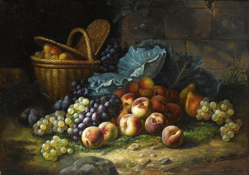 Натюрморт с персиками и виноградом.jpg