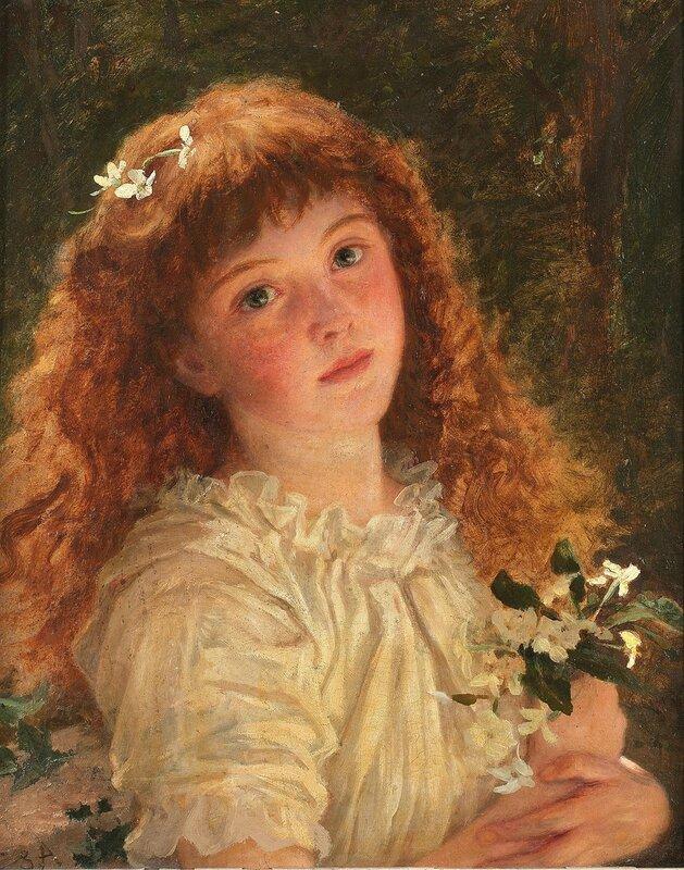 Юная цветочница
