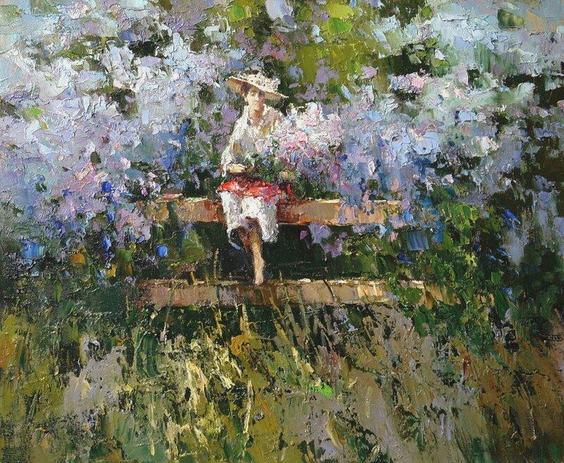 Алексей Зайцев. В сиреневом саду.