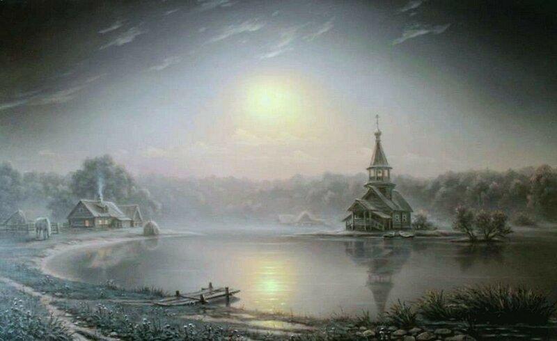 Алексей Сычёв. Ночное озеро.jpg