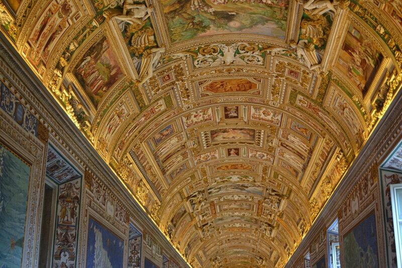 Потолок в Галереи Географических карт
