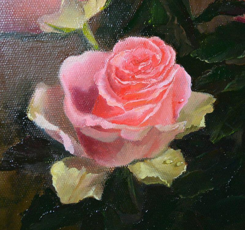 Букет роз, фрагмент