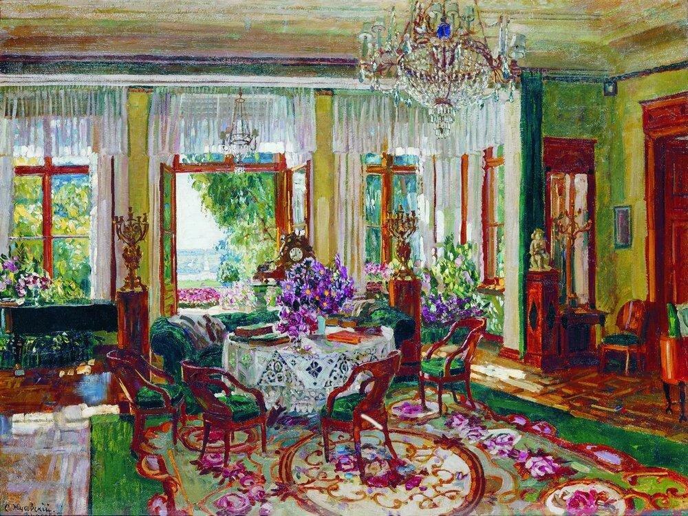 Большая гостиная в Брасове. 1916.jpg