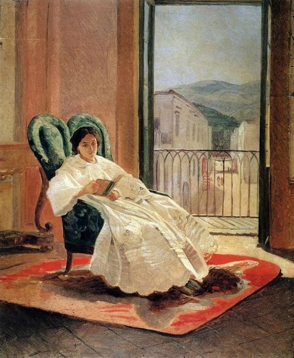 Анна Петровна-супруга художника. Автор: Н.Н. Ге.