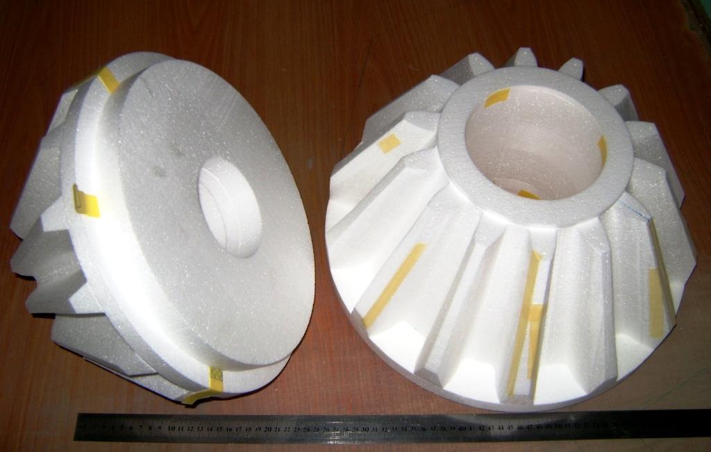 конические шестерни - Рис. 1.в Примеры изготовления моделей вырезанием проволокой