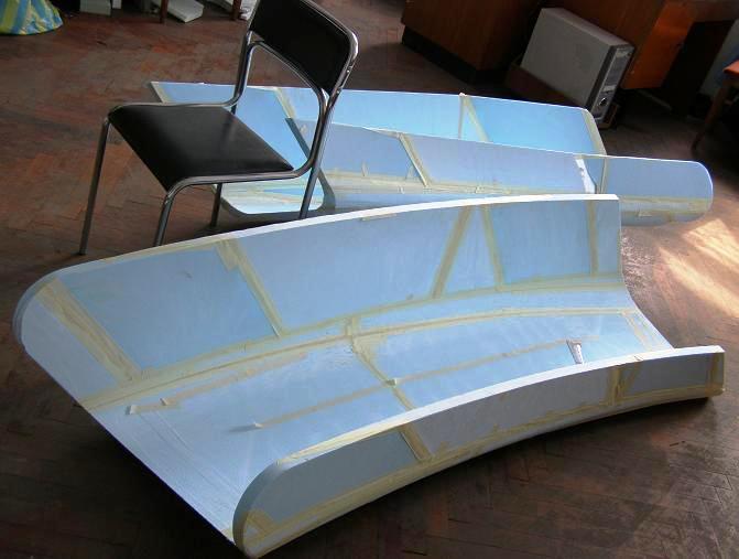 желоб с габаритными размерами больше 2 м - Рис. 2.в Примеры моделей, полученных на 3D фрезере