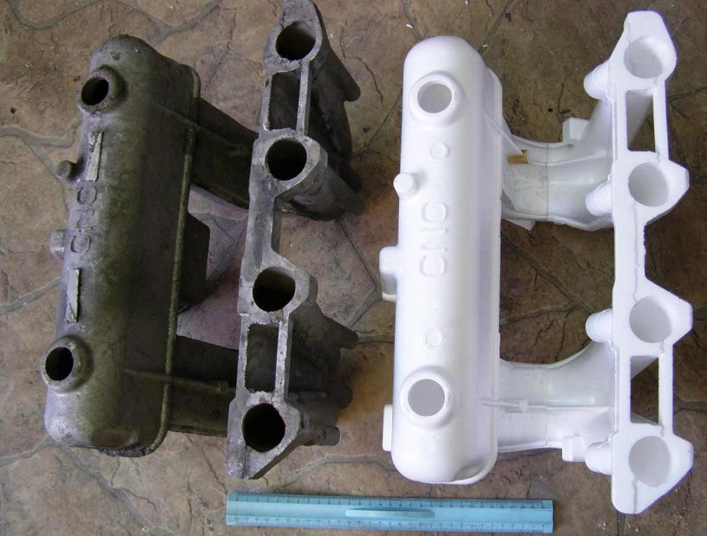 модель и картонный шаблон (ниже) - Рис. 1.а Примеры изготовления моделей вырезанием проволокой