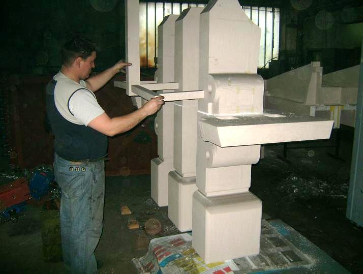 модель детали машины непрерывного литья заготовок (МНЛЗ) для формовки способом Full Mould – в песчаной смеси со связующим - Рис. 1.б Примеры изготовления моделей вырезанием проволокой