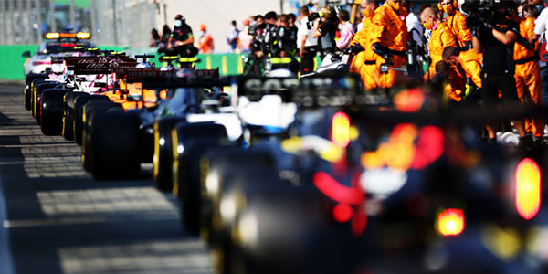 Baku GP 2021 last restart, photo by f1.com