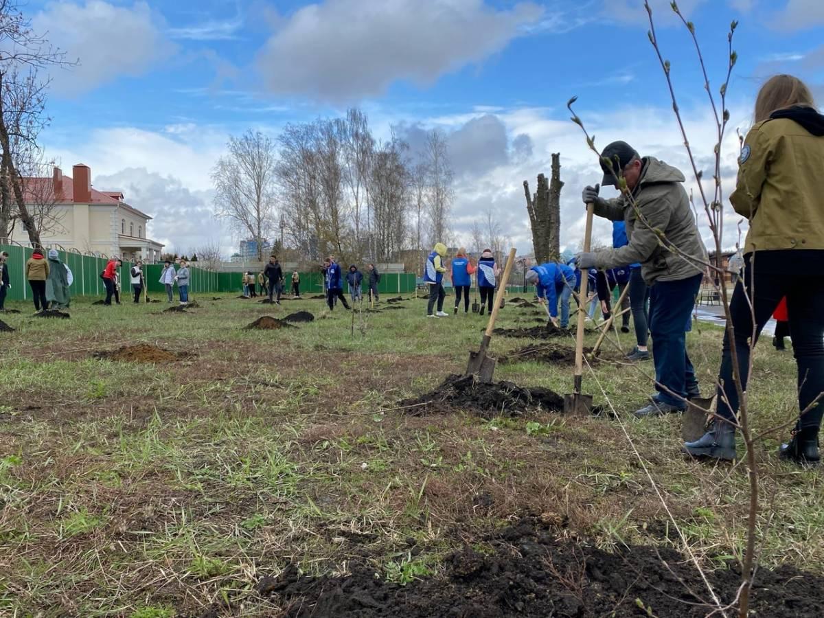 В Октябрьском районе проходит акция «Сад памяти»