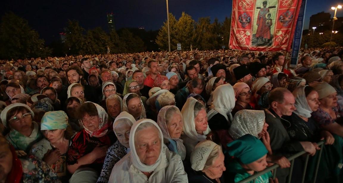 Верующие во время Царских дней в Екатеринбурге
