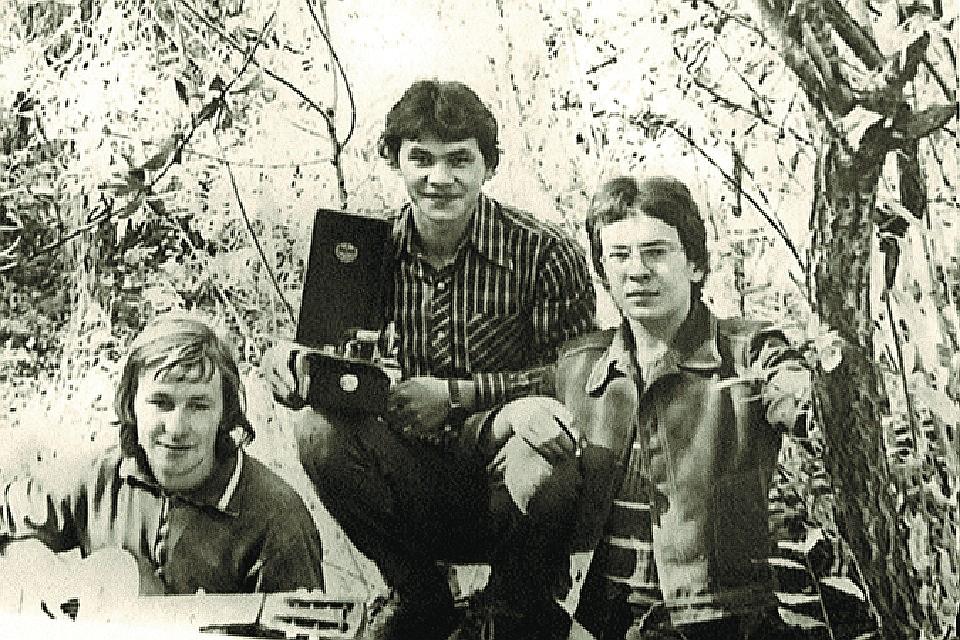 Сергей Шойгу с друзьями, ему 16 лет, 1971 год. Фото из семейного архива