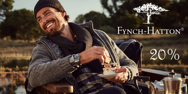 Скидки 20% на одежду Fynch-Hatton