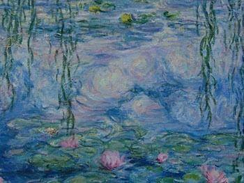 Кувшинки на воде. Картина.