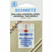 Игла двойная универсальная SCHMETZ TWIN №80/2,5 (1 шт.)