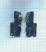 Разъем Micro USB для телефона Xiaomi Redmi Note 3, Note 3 Pro (плата с системным разъемом и микрофоном)
