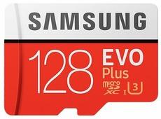 Карта памяти Samsung EVO+ microSDXC 128GB + адаптер [MB-MC128GA]