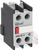 Аксессуары для контакторов Приставка контактная фронтальная доп.контакты 1НО+1НЗ DEKraft Schneider Electric