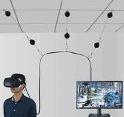 Крепления кабеля VR очков к потолку вытягивающиеся