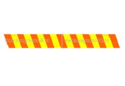 Моспромзнак Желто-оранжевые полосы для автомобилей прикрытия