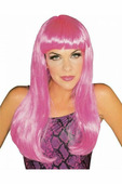 Гламурный розовый парик