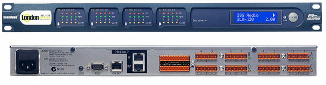 BSS BLU-120 аудио-матрица без процессора, шасси. BLU-link (без CobraNet). Установка опциональных карт - до 16 аналоговых или цифровых вх. или вых., до 4 телефонных вх.