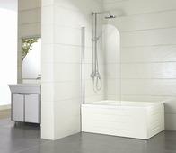 Стеклянная шторка для ванны Bravat Alfa BG070.5110A-1