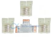 SC41UTESB Ecola LED strip connector комплект T гибкая соед. плата + 3 зажимных разъема 4-х конт. 10 mm