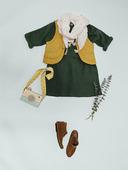 Электронная выкройка Burda - Детское платье А-силуэта с цельнокроеными рукавами 128 B
