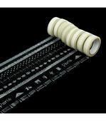"""1260714 Клейкая лента Арт Узор пластик """"Кружевной орнамент"""" белый 1.5 см × 10 м"""