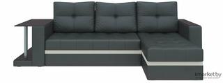Угловой диван Mebelico Атланта М 500 правый 58790 экокожа черный